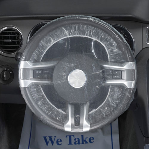 DISPOSABLE STEERING WHEEL COVER (ROLL OF 500)